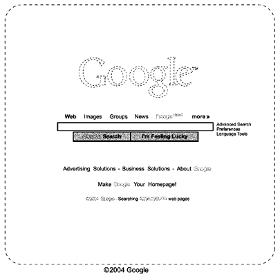 google home page design. google homepage design patent home page
